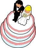 01个蛋糕轻便短大衣婚礼 免版税库存照片