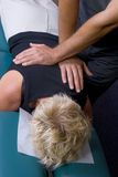 01个调整按摩脊柱治疗者 免版税库存图片