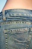 01件牛仔裤 库存照片