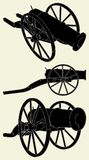01古老大炮向量 免版税库存图片