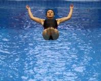 01名潜水的妇女 免版税库存图片