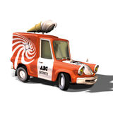 01奶油色冰卡车 免版税库存图片