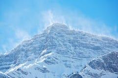01山峰雪spindrift 库存图片