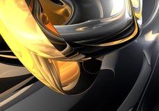 01抽象金黄环形空间 皇族释放例证