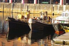 01条小船mersey 免版税库存照片