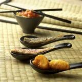 01棵鱼油煎的蔬菜 库存图片