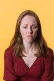 01沮丧的妇女 免版税库存图片