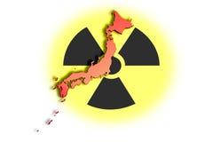 01灾害核的日本 免版税库存照片