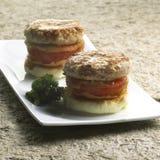 01烤肋条肉蕃茄 库存图片