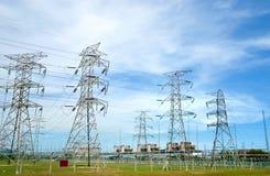 01电工厂电源串联 库存照片