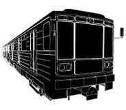 01辆地铁培训向量无盖货车 皇族释放例证