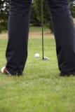 01驱动高尔夫球的球 图库摄影