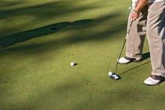 01高尔夫球射击 库存图片