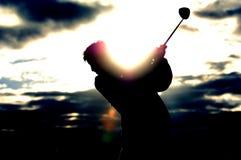 01高尔夫球日出 库存图片