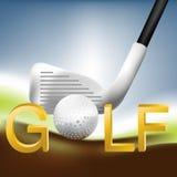 01高尔夫球 库存照片