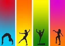01 αθλητικός γυμναστικός Διανυσματική απεικόνιση