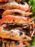 01 γαρίδες τροφίμων Στοκ Εικόνα