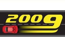 01 νέο έτος του 2009 διανυσματική απεικόνιση
