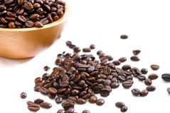 01 φρέσκες σειρές καφέ φασ&omicro Στοκ Εικόνα