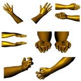 01 χρυσά χέρια Στοκ φωτογραφίες με δικαίωμα ελεύθερης χρήσης