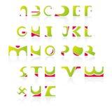 01 алфавит как иконы Стоковое Изображение