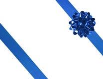 01 голубая тесемка Стоковые Фото
