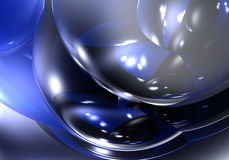 01 голубой пузырь Стоковая Фотография
