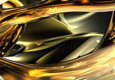 01 золотистый провод Стоковые Фотографии RF
