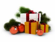 01 Новый Год подарков Стоковое Изображение