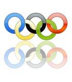 01 олимпийское кольцо стоковое фото