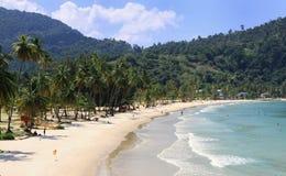 01 пляж caribbean Тринидад Стоковая Фотография RF