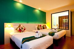 01 серия гостиницы спальни Стоковое Изображение RF