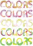01 цвет v Стоковое Изображение RF