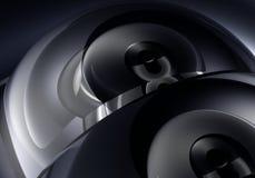 01 черная серебряная сфера Стоковые Фотографии RF