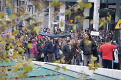 01 09个雅典抗议者 免版税库存图片