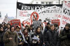 01 09 διαμαρτυρόμενοι της Αθήνας Στοκ Εικόνες