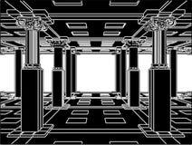 вектор интерьера 01 античный колонки Стоковое Изображение RF