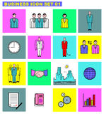 01企业图标集 免版税库存照片