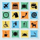 01 4 pictograms гостиницы Иллюстрация вектора