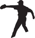 01棒球投手球员 免版税图库摄影