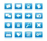 01 błękitny ikona Obrazy Stock