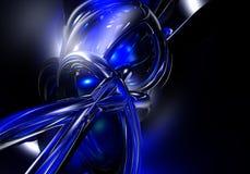 01 blåa trådar Royaltyfri Foto