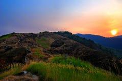 01 broga wzgórza wschód słońca Obraz Royalty Free