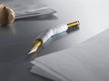 01 cast blyertspennan Arkivfoto