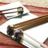 01 chocolat涮制菜肴 免版税图库摄影