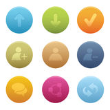 01 Circle Chat Media Icons Stock Images
