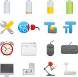01 Computer Icons. Professional set for your website, application, or presentation. The graphics can easily be edited color individually and be scaled to any stock illustration