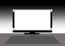 01 czarny pokazu ekranu biały szeroki Obrazy Royalty Free