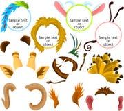 01 djura symboler royaltyfri illustrationer