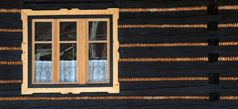 01 drewniane okna Obraz Royalty Free